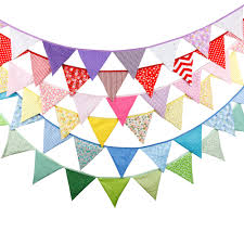 Bunting Flags Wedding 20 Colours 12 Flags 3 2m Cotton Fabric Banners Wedding Bunting