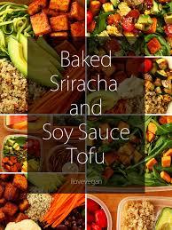 vegan sriracha mayo baked sriracha u0026 soy sauce tofu recipe tofu soy sauce and