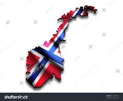 flag map norway perspective waving norwegian stock illustration