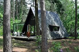 dmva u0027s glazed renovation of a woodland a frames house inhabitat