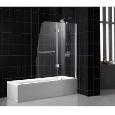 tub with glass shower door dreamline shdr 3148586 01 aqua tub door 48 x 58 clear glass chrome