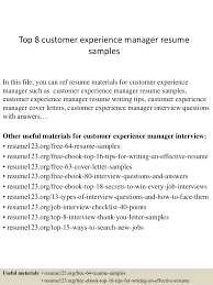 help desk supervisor resume top8customerexperiencemanagerresumesamples 150408062644 conversion gate01 thumbnail 4 jpg cb 1428492449