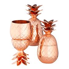 pineapple copper pineapple cups set