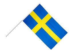 Scottish Pirate Flag Sweden Hand Waving Flag 2 X 3 Ft Best Buy Flags Co Uk