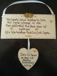wedding anniversary plaques 1st wedding anniversary gifts