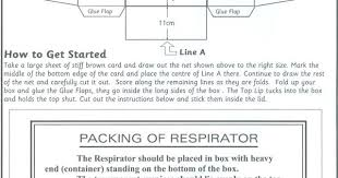 template of a gas mask box google search evacuee pinterest