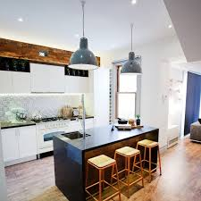 outstanding industrial pendant in casual white kitchen lighting