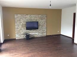 steinwand wohnzimmer tv steinoptik selber machen cool auf dekoideen fur ihr zuhause für