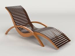 lounge chair outdoor wood patio deck 3d model cgtrader