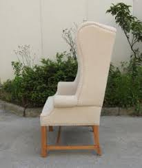 French Wingback Chair American Style High Back Wing Chair French Style Wood Chair With