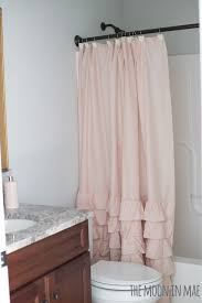 Ruffled Shower Curtains Studio Bath Reveal Blush Ruffled Shower Curtain Lc Conrad