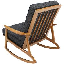 Knoll Rocking Chair Danish Modern Rocking Lounge Chair New Upholstery For Sale At 1stdibs
