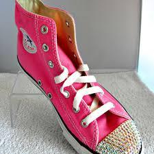 Converse High Heels Best Swarovski Crystal Converse Products On Wanelo