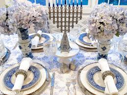 table setting pictures french blue and white holiday table setting with toile