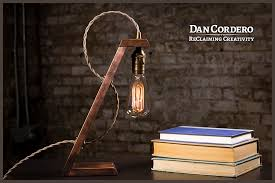creation wooden edison desk lamp dan cordero