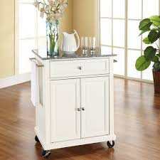 kitchen cart and island darby home co detweiler solid granite top portable kitchen cart