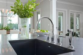 kitchen kitchen island with single rectangle blanco sinks plus