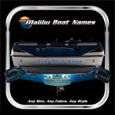 Boat Names by Custom Malibu Boat Names Domed Numbers