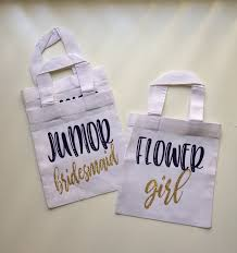 bridesmaids bags flower girl custom tote bag junior by pretty party favors on zibbet