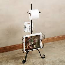 Free Standing Toilet Paper Holder With Storage Woodland Imports Free Standing Toilet Paper Holder Surripui Net