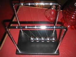 Swinging Desk Balls Retro Desk Toy Silver Balls Newton U0027s Cradle Vintage Fun