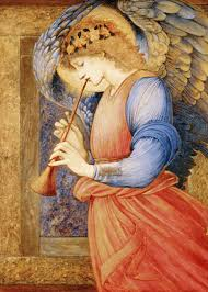 burne jones angel playing a flageolet 1878 liverpool