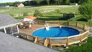 Deck Design Ideas by Above Ground Swimming Pool Design U0026 Wooden Decks Design Ideas