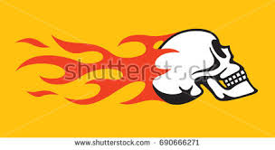 burning skull free vector stock graphics images