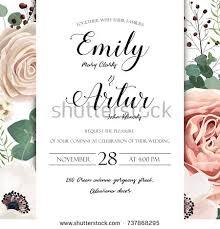 floral wedding invitation elegant invite card stock vector
