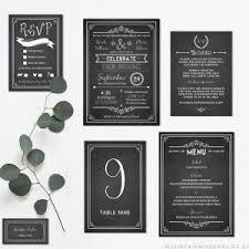 chalkboard wedding program template printable diy wedding program fan mountainmodernlife
