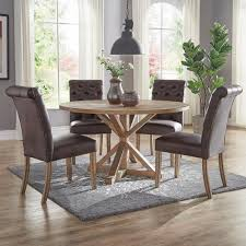 chocolate dining room table homesullivan huntington chocolate bonded leather button tufted
