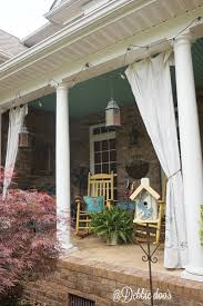 Outdoor Canvas Curtains How To Make Drop Cloth Curtains For The Porch Or Patio Debbiedoos