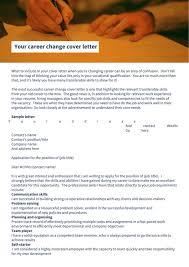 career change cover letter career change resume objective