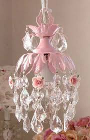 Chandelier Light For Girls Room Dreamy Pink Mini Chandelier With Roses Precious For Nursery Or