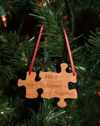 our together puzzle ornament laser engraved and cut