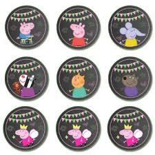 buy peppa pig cupcake toppers chalkboard printable digital