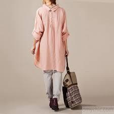 linen blouses pink buttons back linen dresses oversize linen blouses sleeve linen shirts4 jpg
