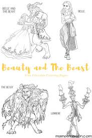 beauty and the beast coloring pages free printables