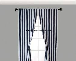 White And Navy Striped Curtains Navy Stripe Curtain Panels Navy Blue Curtains Drapery Window