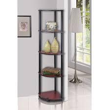 amazon com furinno 99811dc bk turn n tube 5 tier corner shelf