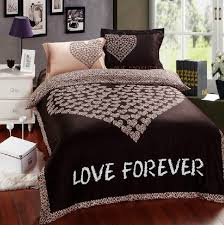 Leopard Bed Set Reversible Size Bed Comforter Sets With Design Brown