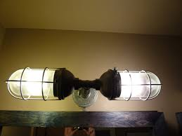 industrial bathroom light fixtures top 67 wicked industrial style bathroom mirror 5 light chrome