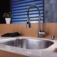 kraus kpf1612ksd30ch single lever spiral spring kitchen faucet