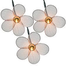 wire mesh white flower string lights