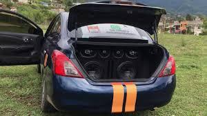nissan versa trunk size probando sonido nissan versa youtube