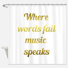 Words Shower Curtain Shower Curtain With Words Curtain Collections