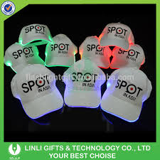 custom logo printed led pathfinder lighted baseball cap led