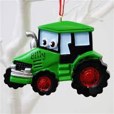personalised ornaments ireland tractor