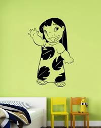 Movie Decorations For Home Lilo And Stitch Wall Art Decal Disney Sticker Cartoon Decorations
