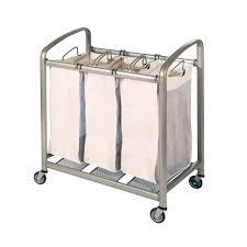 Quad Laundry Hamper by Seville Classics 3 Bag Slanted Handle Laundry Sorter Web176 The